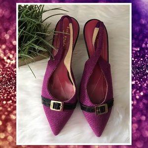 kate spade Shoes - NWOB Kate Spade Magenta Slingback Heels